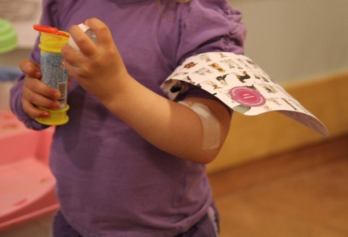 Prosjekt for blodprøvetaking av barn. Foto: Lena Borge