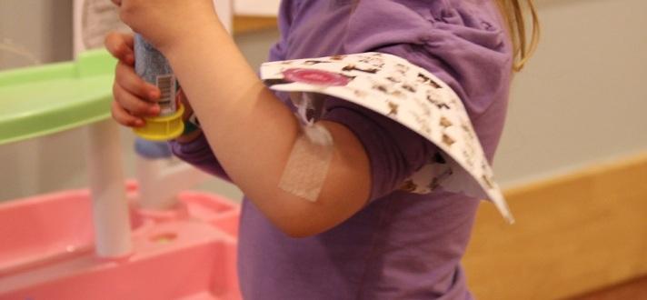Ny blodprøvemetode for barn. Foto: Lena Borge