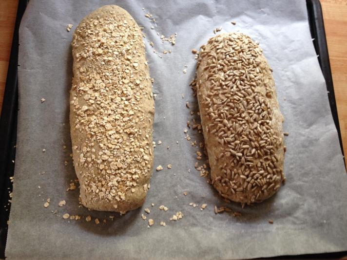 Første gang jeg har lagd rugbrød. Foto: Lena Borge