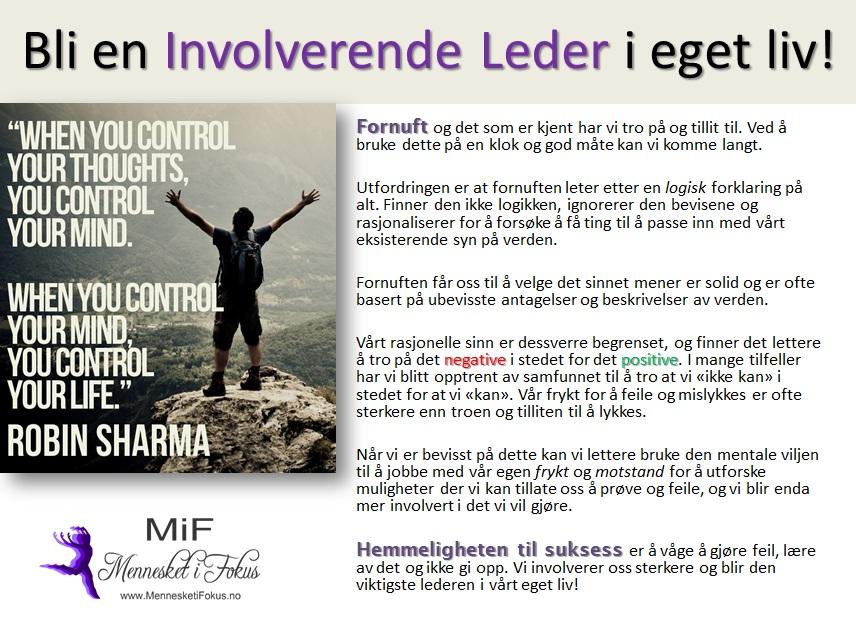 Involverende lederskap. Laget av Lena Borge