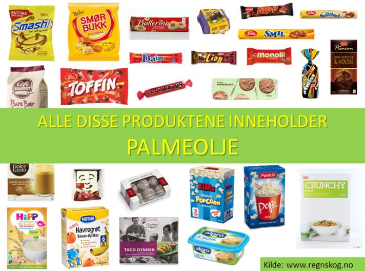 Skremmende mange produkter består fremdeles av palmeolje. Er du villige til å ta et standpunkt å ikke kjøpe disse produktene før produsentene slutter å bruke palmeolje?